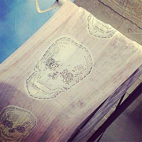 Le printemps et l'automne, Ghost crâne écharpe châle femme climatisation Prix du tourisme balnéaire foulard soie 180cm*140cm de l'écran solaire,Crâne Rose Crâne rose