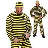 JGA Sträflingskostüm Sträfling Kostüm M 50 Verbrecher Häftlingskleidung Ganove Schwerverbrecher Outfit Häftlingskostüm Gefangener Alcatraz Psycho Verbrecherkostüm Karnevalskostüme Herren Junggesellenabschied