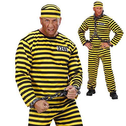 JGA Sträflingskostüm Sträfling Kostüm M 50 Verbrecher Häftlingskleidung Ganove Schwerverbrecher Outfit Häftlingskostüm Gefangener Alcatraz Psycho Verbrecherkostüm Karnevalskostüme Herren - Schwerverbrecher Kostüm