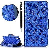 Huawei Y6 II Hülle,Huawei Y6 II Ledertasche Handyhülle Brieftasche im BookStyle,SainCat Schön Retro 3D Schmetterling... preisvergleich bei billige-tabletten.eu