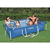 Intex Kit de piscina rectangular azul 300 x 200 x 75 cm 3800 l