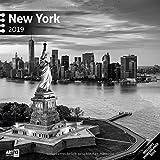 New York 2019, Wandkalender / Broschürenkalender im Hochformat (aufgeklappt 30x60 cm) - Geschenk-Kalender mit Monatskalendarium zum Eintragen