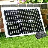 20 Watt 12V Solarpanel mit 5A Laderegler - Solarmodul für 12V Batterie, Camping, Boot, Wohnmobil, Garten von PK Green