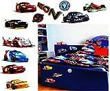 alles-meine.de GmbH 11 Stück: XL Wandsticker -  Disney Cars / Lightning Mc Queen  - incl. Name - selbstklebend + wiederverwendbar - Aufkleber für Kinderzimmer - Wandtattoo / St..
