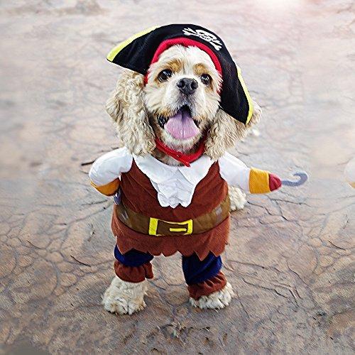 Imagen de pawz carretera piratas del caribe disfraz de pet perro de dibujos animados sudaderas con capucha halloween transfiguración equipo