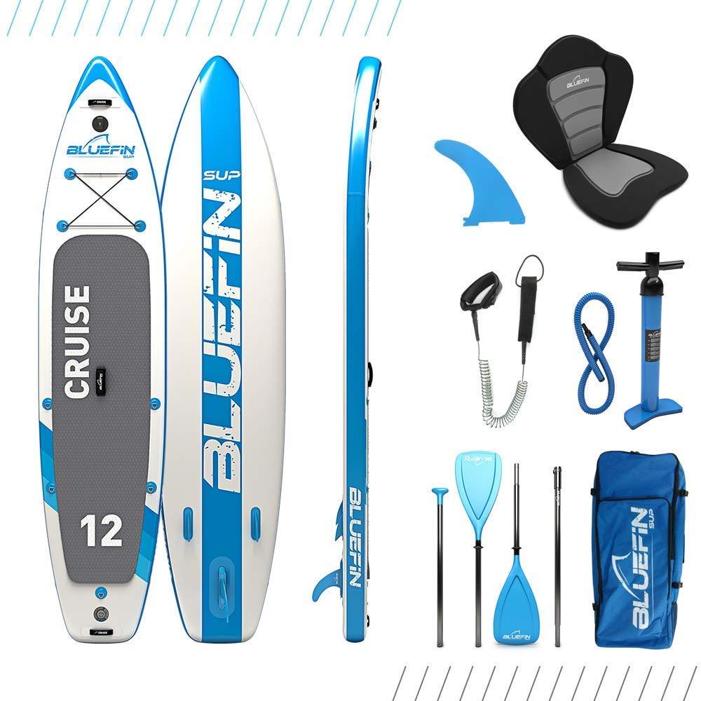 "Bluefin Cruise 12'0"" SUP Board Set | Aufblasbares Stand Up Paddle Board | 6 Zoll Dick | Fiberglas Paddel | Kajak Sitz | Komplettes Zubehör | 5 Jahre Garant"