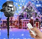 LED Projektionslampe Weihnachten, Weihnachtsbeleuchtung Außen Innen Schneefall Effektlicht mit Fernbedienung Timer, LED Projektor Lampe IP65 Wasserdicht Weihnachtsdeko Garten Beleuchtung