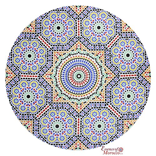 Moroccan Porcelain Serving Plate Platter Presentation Dish Hand Crafted Mosaic Zellige Design Dishwasher Safe Large 40 cm (MP3)