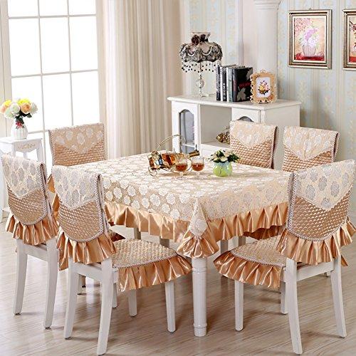XAIOJIBA Europ?ische Garten Tischdecke/Chair Cover Stuhl-Pakete/Kissen Kit/Stuhl/rundtischdecken/tischdecken/Tuch/Stuhl Cover Set-b 150x200cm(59x79inch) (Stühle-paket)