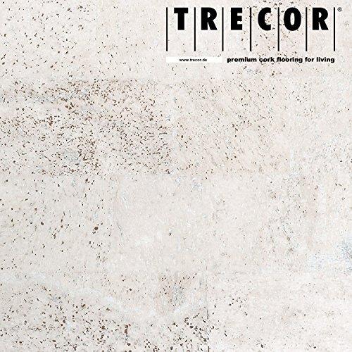 """TRECOR Korkboden """"SIENA"""" - Korkfertigboden mit CLIPEX Klicksystem in 24 Farben mit Keramiklack / Antiscratch Oberfläche lieferbar - Format: 900 x 300 x 10 mm (weiß)"""