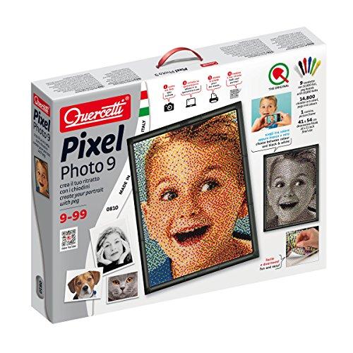Quercetti 00810 - Pixel Art Photo Steckspiele Medium, Mehrfarbig