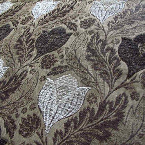 Berkeley Sofa (Berkeley-Torf Kissen Sofa Einrichtung ': Weiß, Öl Braun und Beige Blumenmuster Stoff, feuerbeständig loome Gewebe, Berkeley 'Peat Floral' : White, Brown And Beige, 10 x 14 cm sample)