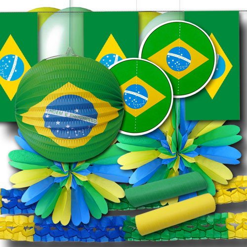 ordeno.eu Partyset Brasilien Dekoset Grundausstattung