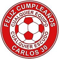 OBLEA de Papel de azúcar Personalizada, 19 cm, diseño de Fútbol