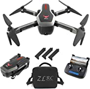 Goolsky SG906 GPS Drone 4K sin escobillas con cámara Bolso 5G WiFi FPV Flujo óptico Plegable Altitud de posicionamiento Sosté