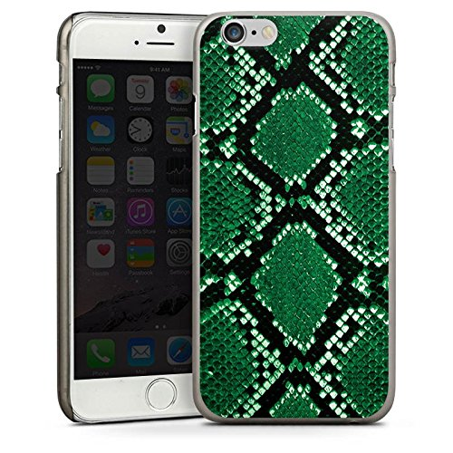 Apple iPhone 5 Housse Outdoor Étui militaire Coque Peau de serpent Look Serpent CasDur anthracite clair