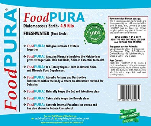 FoodPURA® 4.5KG CODEX Food Grade Human Diatomaceous Earth DE FREE P&P Pure Food Grade DE Bucket 2