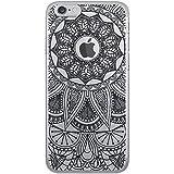 MOXIE Coque Crystal Mandala Noir pour iPhone 6/6S