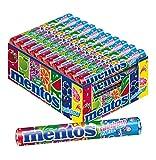 Mentos Rainbow, 40 Rollen fruchtiger Kaubonbons, Orange + Erdbeer + Apfel + Heidelbeere + Himbeere + Melone + Grapefruit
