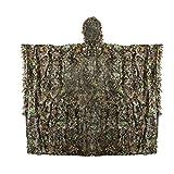 Ghillie Poncho Caccia Camo Mimetico 3D Foreste Delle Foglie
