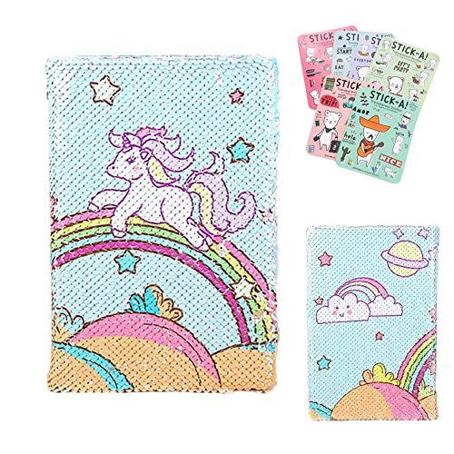 Shager - Pony lindo Lentejuelas Cuaderno - Niñas Fiesta de Adultos Regalos de Cumpleaños del Graduación