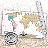 Scrape Off World Map - Weltkarte zum Rubbeln - Rubbel Landkarte Deluxe Poster XXL