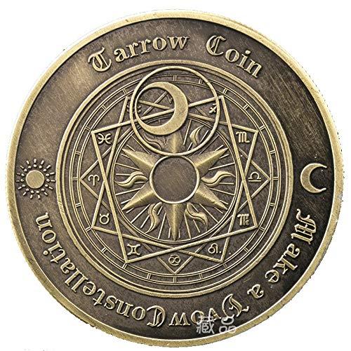 JJZHY Tarot, das glückliche Münzen-Konstellation Gedenkmünze-Liebesgedenkmünze wünscht,Bronze,Einheitsgröße -