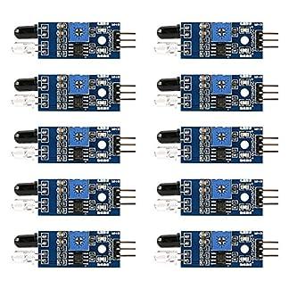 Electrely-10-Stcke-IR-Infrarot-Hindernisvermeidung-Sensor-Modul-fr-Arduino-Smart-Auto-Roboter-Infrarot-Rohrmodul-Photoelektrischer-Reflexionssensor-Erkennungsabstand-2-30-cm