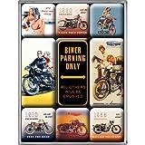 Nostalgic-Art 83018 Best Garage - Biker Parking Only, Magnet-Set (9teilig)