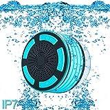 ParaCity Dusch-Lautsprecher, wasserdicht IP67,tragbares kabelloses Design mit Bluetooth 4.0,Lautsprecher mit Super Bass HD-Sound und LED-Licht, für Pool / Strand / Bad / Boot / Sauna / Spa hellblau