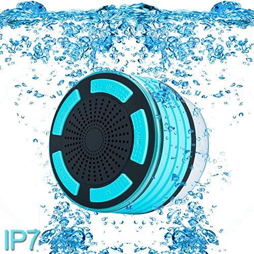 paracity Dusche Lautsprecher, wasserdicht IP67Tragbare Wireless Bluetooth 4.0Lautsprecher mit Super Bass HD Sound und Atmen LED Licht für Pool Strand Bad Boot Sauna oder Spa