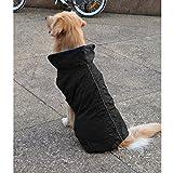 Sharplace Wasserdicht Hundemantel Regenjacke Regenmantel Winterjacke Hundebekleidung Hundejacke Winter Warm Wintermantel Hundemantel für Kleine Mittlere Große Hunde - Schwarz, XS