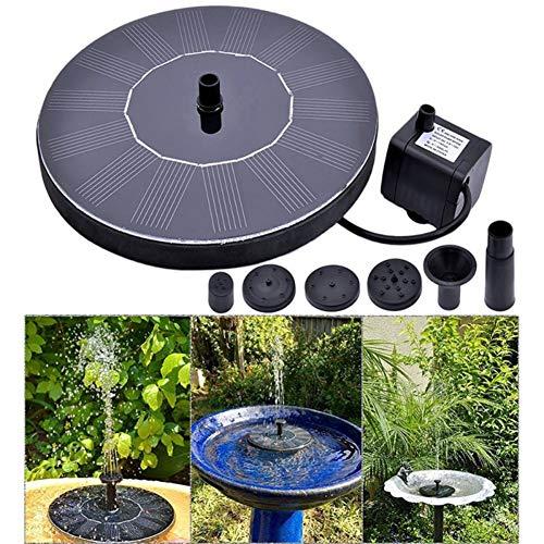 ChYoung Solar Vogelbad Springbrunnenpumpe, 1,4 W Außenwasserpumpe Solarpanel-Kit für Gartenteich-Swimmingpool (Versand aus USA) -