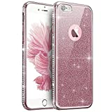 Coque iPhone 8 Plus,Coque iPhone 7 Plus,Strass bling cristal Sparkle glitter...