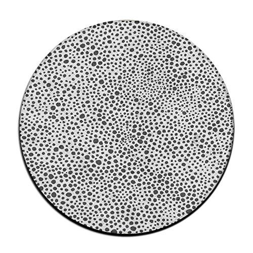 Yo Ou Redondo área Alfombra Negro Color Blanco Lunares Casual Antideslizante Suelo Alfombra de baño Felpudo Alfombra de Interior Exterior Antideslizante Almohadillas