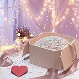 Hbsite Gift Box Regalo Scatola Scatola regalo riutilizzabile con scatola regalo sorpresa con riempimento (perline in schiuma