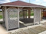 4m x 4m (EX 4,5m x 4,5m) Garten Holz Pavillon Pavillon Pergola Hot Tub