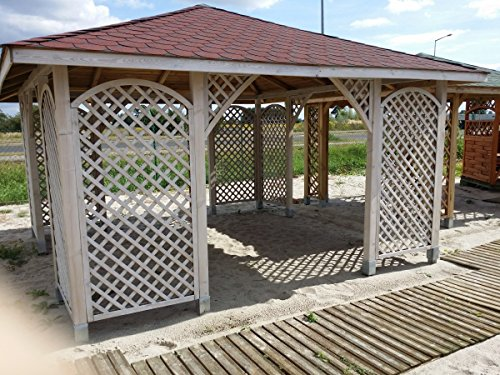 Gartenlaube / Pavillon / Pergola aus Holz, geräumig, 4,5m x 4,5m