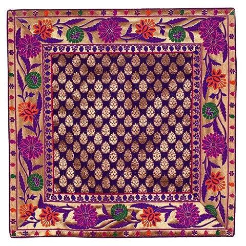 Throw Violet Pillow Covers soie cadeaux indiens Articles Accueil Décorations