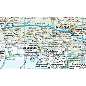 Cuba, mapa de carreteras plastificado. Escala 1:1.000.000. Borch.: BB.070