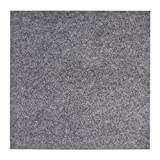 andiamo Filzfliese, Selbstklebende Teppichfliese, im Set zu 25 Stück=4m², Nadelfilz Teppichboden in Diversen Farben, Farbe:Grau