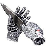 Schnittfest Handschuhe rutschfeste Arbeitshandschuhe High Performance Schutz Sicherheit Handschuh für Küche Garten Heim DIY