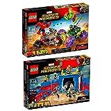 LEGO Marvel Super Heroes 2er Set 76088 76078 Thor gegen Hulk – in der Arena + Hulk gegen Red Hulk