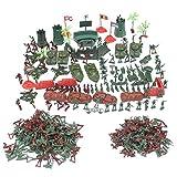 Gazechimp 290/500-teilig Kunststoff Armee Kampf Spiel Spielzeug, 4cm Soldat mit Zubehör Spielset Für Armee Sand Szene Modell - 290 Stück