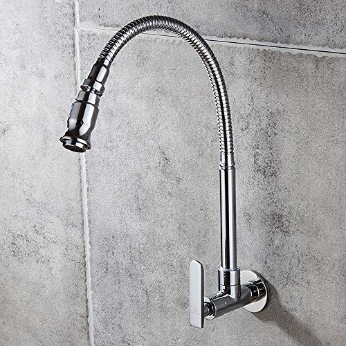 Modenny Kupfer Universal Swivel Mop Pool Single Kaltwasserhahn Spüle Wandmontage Single Temperatur Rotary Nozzle Wasserhahn Modern Home Bad Wäsche Pool Wasserhahn - Rotary-spulen