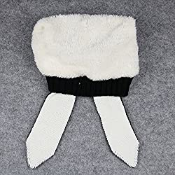 Alxcio Winter Warm Toddler Thickening Knitted Crochet Infant Hat Adorable Rabbit Long Ear Hat Bunny Beanie Cap for Baby Kids Girl Boy - Color Black from Alxcio