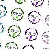 48 Sticker / modern / Schön, dass Sie da sind (Farb Mix) / Runde Aufkleber für Tischdeko, Geschenke, Mitgebsel, Goodie Bags, Gast, Gäste, Firma, Firmen, Feier, Weihnachtsfeier