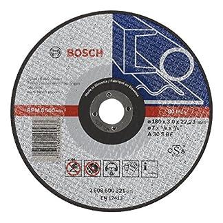 Bosch 2 608 600 321 – Disco de corte recto Expert for Metal – A 30 S BF, 180 mm, 3,0 mm (pack de 1)
