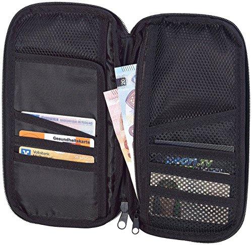 Xcase Ausweishüllen: Geräumiger Reise-Organizer mit 12 Fächern, inkl. Außenfach (Travel Wallet)
