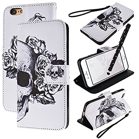 We Love Case Couqe iPhone 6, Housse Etui iPhone 6S a Rabat Silimi Cuir PU Couveture Coque Portefeuille Protection Anti Rayure Anti Choc Résistante Couqe iPhone 6/6S Motif